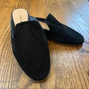 Lucky Brand Coryna Leather Mules Black